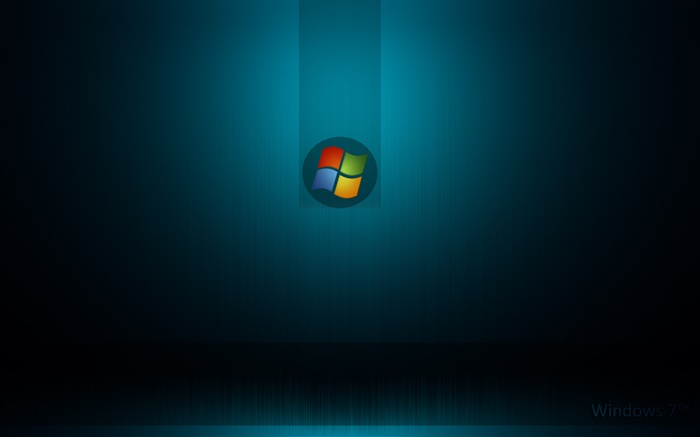 Windows 7 system, dark blue background Wallpapers Pictures Photos Images