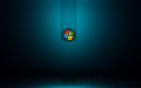 Windows 7 system, dark blue background HD wallpaper