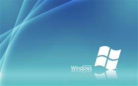 Windows 7 white and blue, creative background HD wallpaper