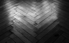 Wooden floors, black and white style HD wallpaper