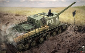 World of Tanks, PC game, art drawing HD wallpaper