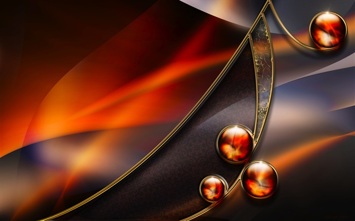 Abstract shape, color, balls Wallpapers Pictures Photos Images