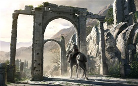 Assassin's Creed, riding horse HD wallpaper