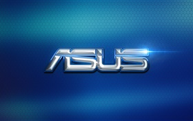 Asus logo, blue background HD wallpaper