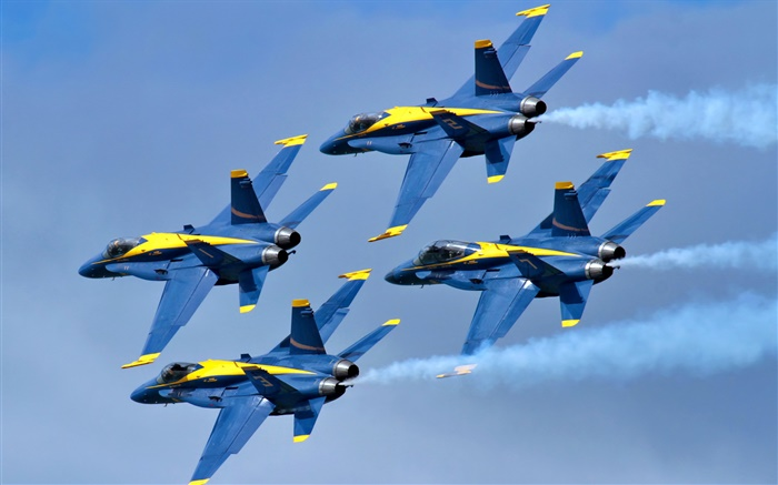 Blue Angels aircraft flight in sky Wallpapers Pictures Photos Images