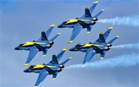 Blue Angels aircraft flight in sky HD wallpaper