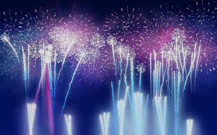 Colorful fireworks, flash, night Wallpapers Pictures Photos Images