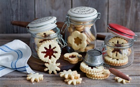 Cookies, jars, dessert HD wallpaper