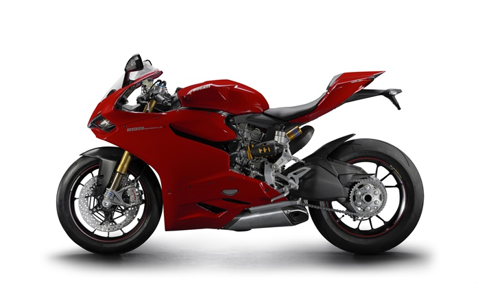 Ducati 1199 Panigale S red motorcycle Wallpapers Pictures Photos Images