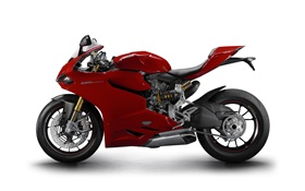 Ducati 1199 Panigale S red motorcycle HD wallpaper