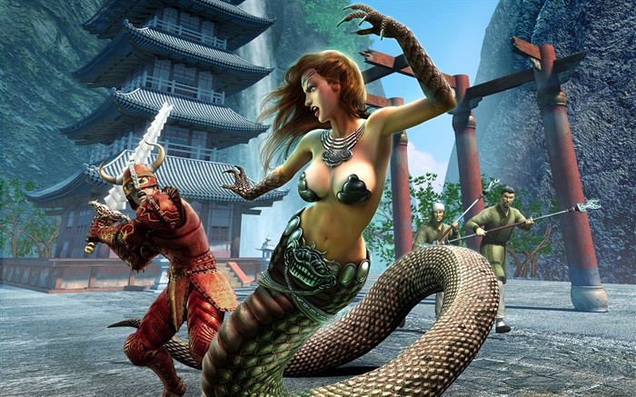 EverQuest, snake girl Wallpapers Pictures Photos Images