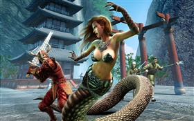 EverQuest, snake girl HD wallpaper