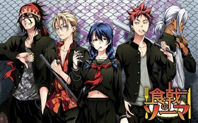 Food wars, Japanese anime HD wallpaper