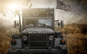 Full metal jacket, US army truck HD wallpaper