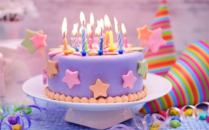 Happy Birthday, cake, decoration, sweet, candles Wallpapers Pictures Photos Images