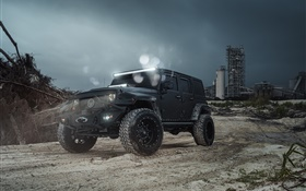 Jeep Wrangler MC black car HD wallpaper