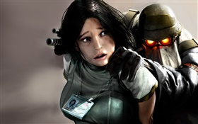 Killzone, girl and soldier HD wallpaper