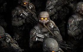 Killzone, soldier look up HD wallpaper