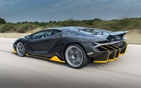 Lamborghini Centenario black supercar speed HD wallpaper