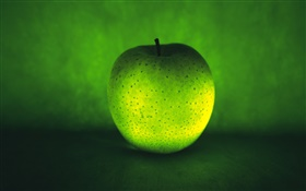 Light fruit, green apple HD wallpaper