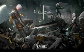Lineage 2, dark wars HD wallpaper
