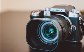 Lumix camera close-up, lens HD wallpaper