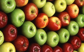 Many apples, red, orange, green HD wallpaper