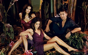 Michelle Rodriguez, Evangeline Lilly, Matthew Fox, Lost HD wallpaper