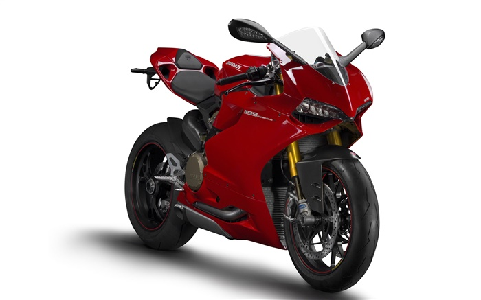 Red Ducati 1199 Panigale S motorcycle front view Wallpapers Pictures Photos Images