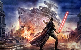 Star Wars, warrior, light sword HD wallpaper