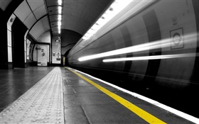 Subway, tunnel, station HD wallpaper