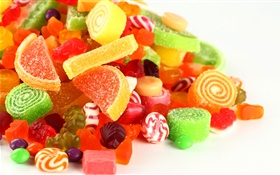 Sweet food, candies, colorful
