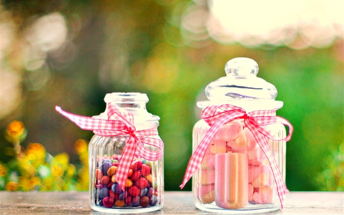Sweet food, candy, jars Wallpapers Pictures Photos Images