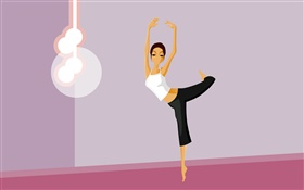 Vector girl dance HD wallpaper