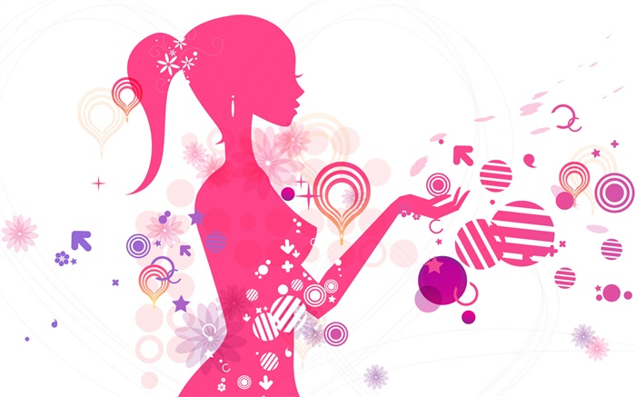 Vector young girl, creative design Wallpapers Pictures Photos Images