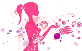 Vector young girl, creative design HD wallpaper
