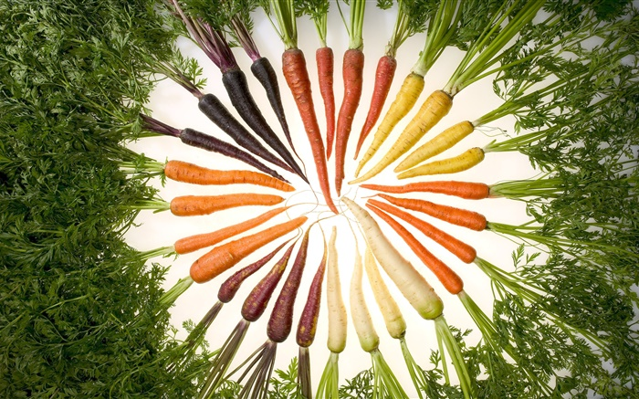 Vegetables, carrot, different colors, circle Wallpapers Pictures Photos Images