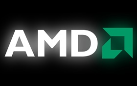 AMD logo, black background HD wallpaper