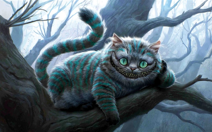 Alice in Wonderland, Cheshire Cat Wallpapers Pictures Photos Images