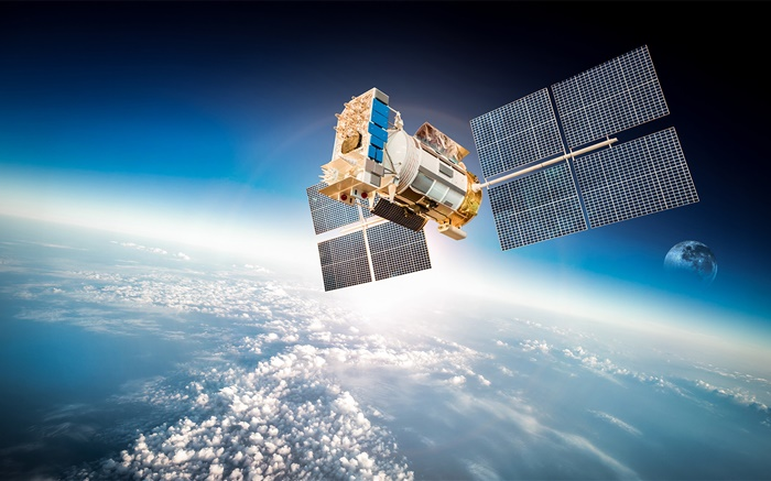Artificial satellite, planet earth orbit, space Wallpapers Pictures Photos Images