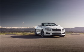 BMW M6 Convertible white car