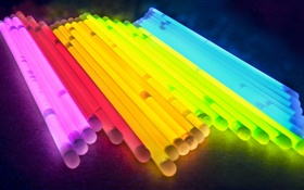 Colorful tubes, light, abstract pictures