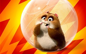 Cute hamsters, cartoon movie HD wallpaper