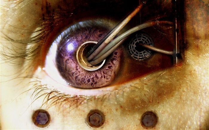 Eye, wires, creative design Wallpapers Pictures Photos Images