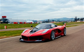 Ferrari FXX K red supercar front view HD wallpaper