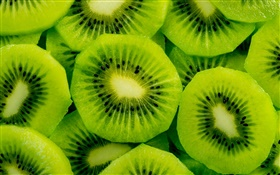 Fruit slice, kiwi HD wallpaper