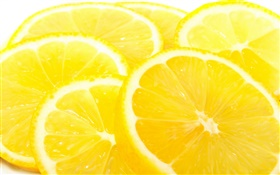 Fruits close-up, citrus, lemons slice, yellow HD wallpaper