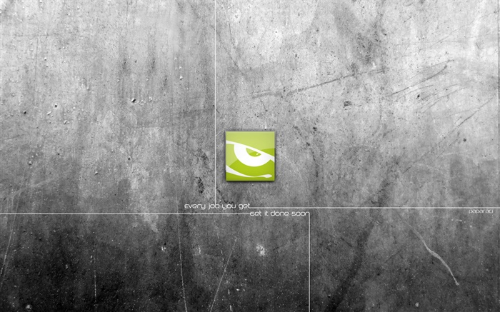 Green logo, gray background, creative design Wallpapers Pictures Photos Images