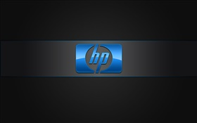 HP blue logo HD wallpaper