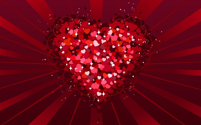 Happy Valentines Day, Love hearts, vector Wallpapers Pictures Photos Images